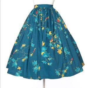 PUG PinUp Girl Clothing Leaves Jenny skirt NWOT XL